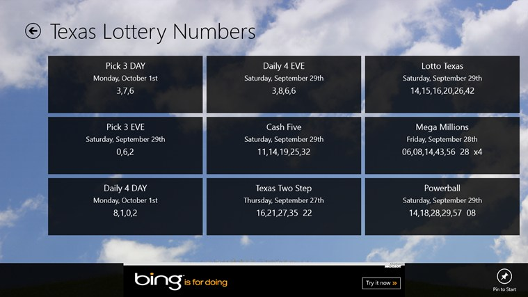 Lottery Numbers screen shot 3