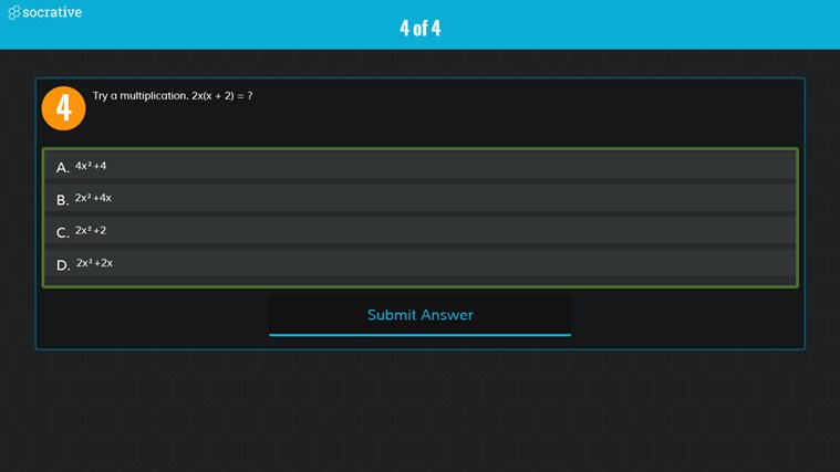 Socrative screen shot 7