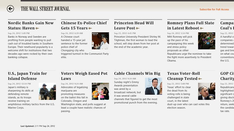 The Wall Street Journal. screen shot 1