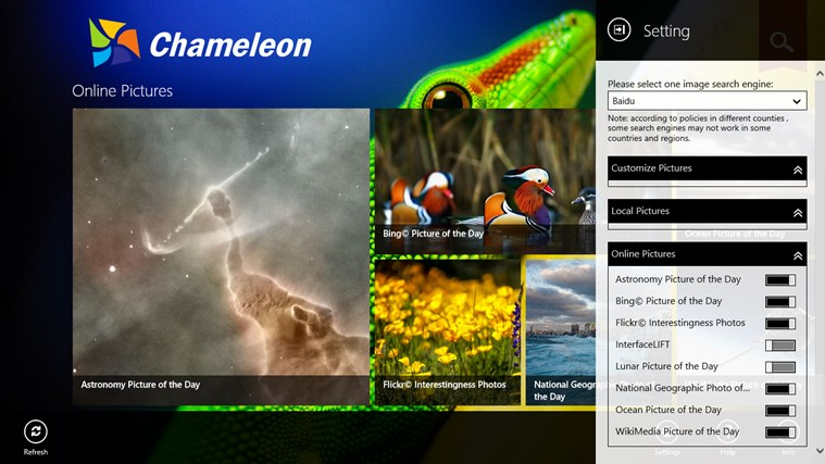 Chameleon screen shot 1