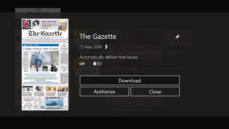 The Gazette ePaper capture d'écran 1