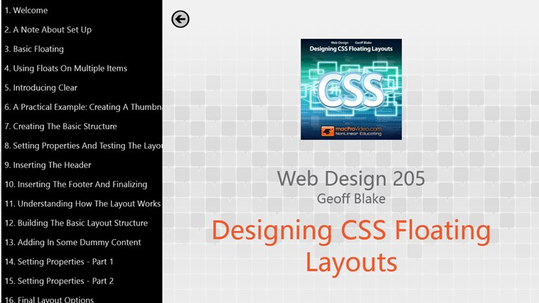 Web Design 205 - Designing CSS Floating Layouts captura de pantalla 1