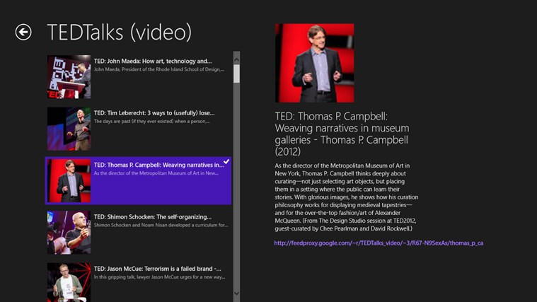 TED Lunch screen shot 1