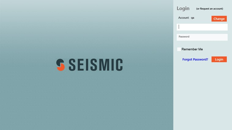 Seismic screen shot 1