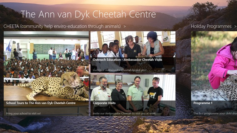 The Ann van Dyk Cheetah Centre skermskoot 3