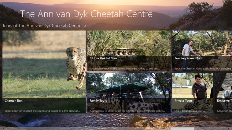 The Ann van Dyk Cheetah Centre skermskoot 5