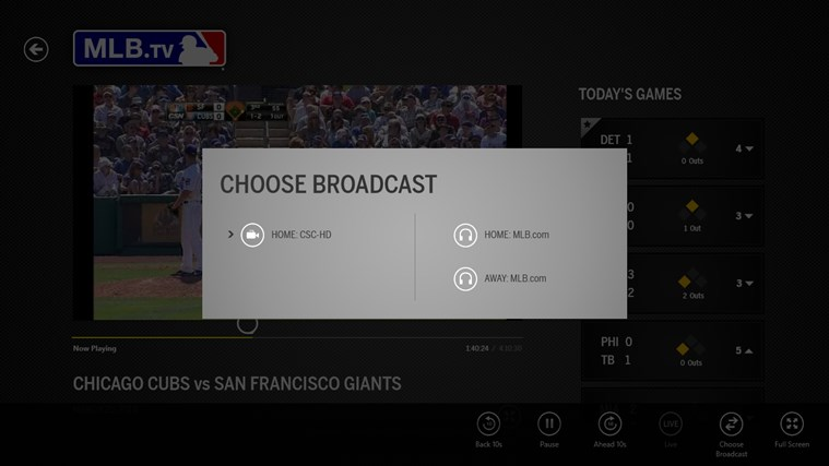 MLB.TV screen shot 5