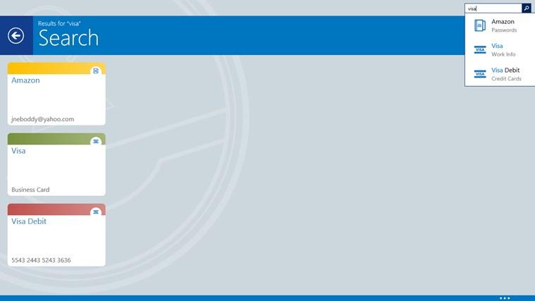 eWallet screen shot 1