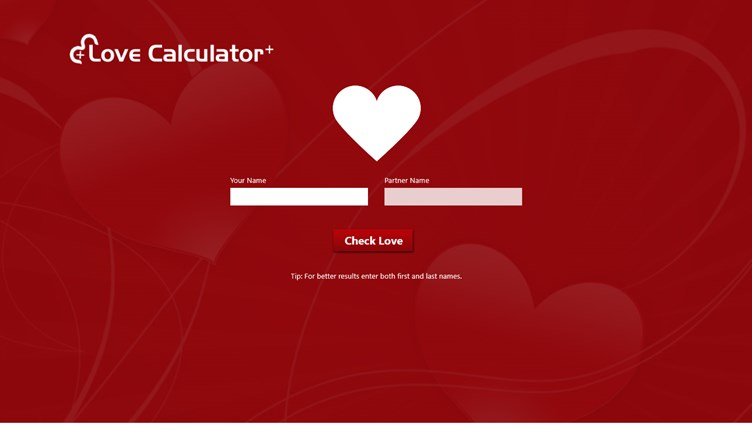 Love Calculator + screen shot 1