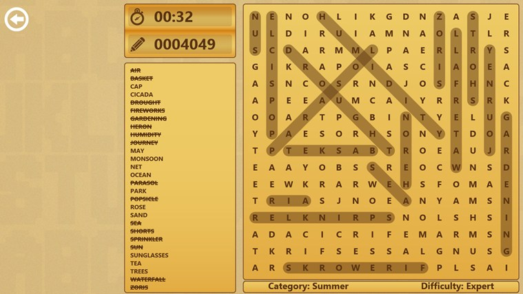 3rd Floor Word Search screen shot 5