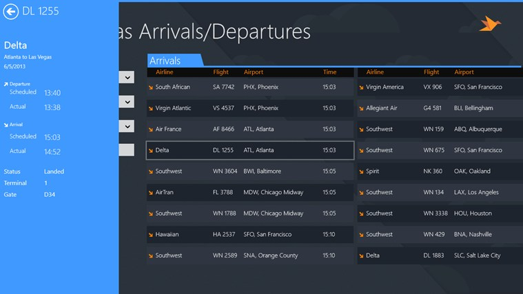 Las Vegas Airport + Flight Tracker screen shot 1