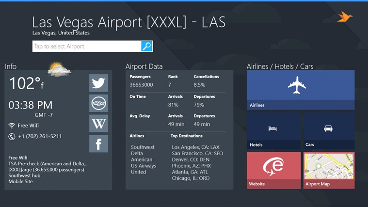 Las Vegas Airport + Flight Tracker screen shot 3