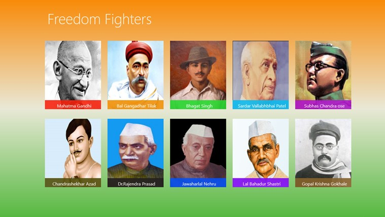 name 5 freedom fighters india