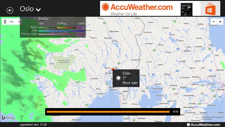 AccuWeather for Windows 8 skjermbilde 3