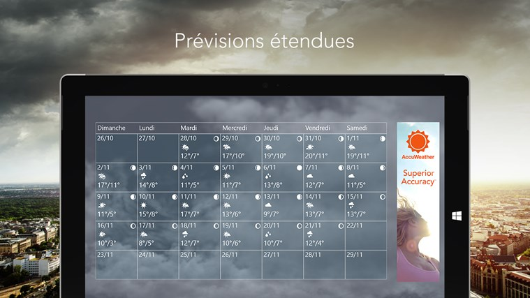 AccuWeather for Windows 8 capture d'écran 3