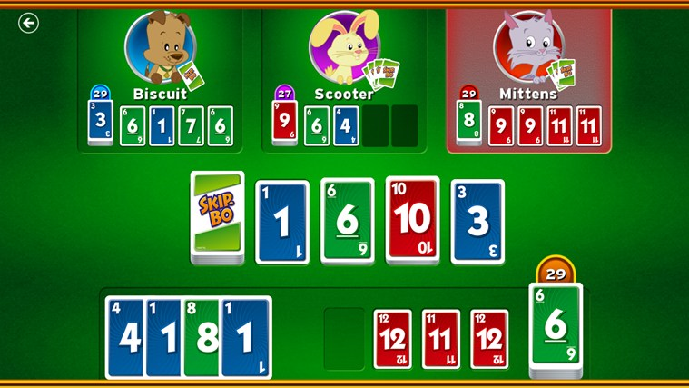 Skip-Bo™ screen shot 3