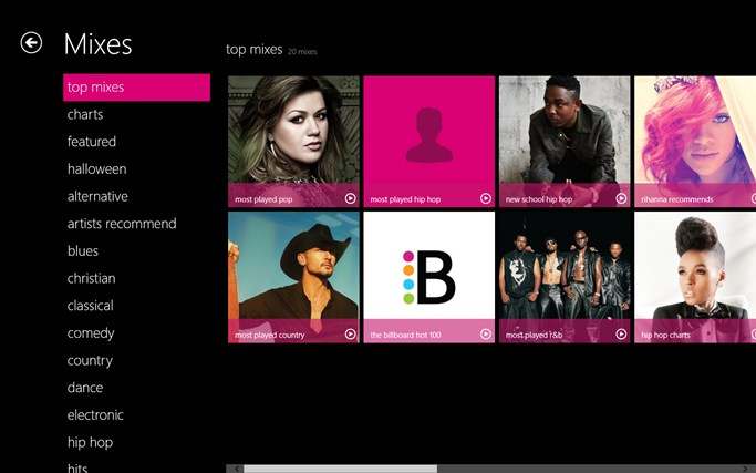 MixRadio screen shot 1