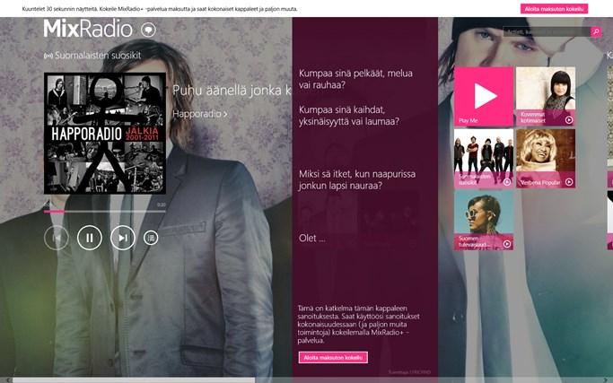 MixRadio näyttökuva 3