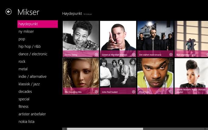 MixRadio skjermbilde 1