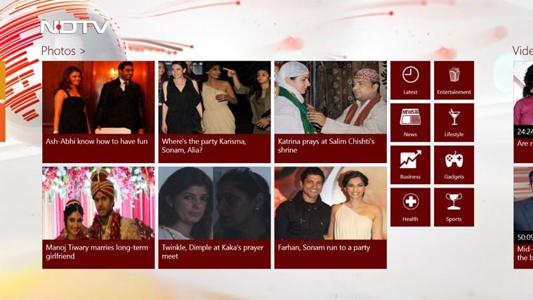 NDTV screen shot 1
