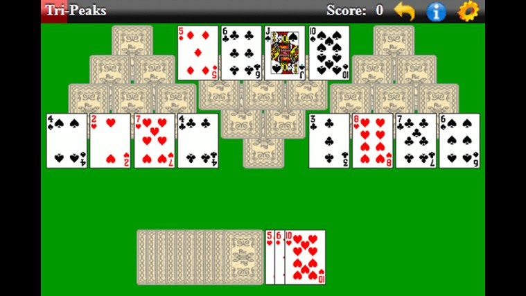TriPeaks Solitaire (Free) screen shot 1