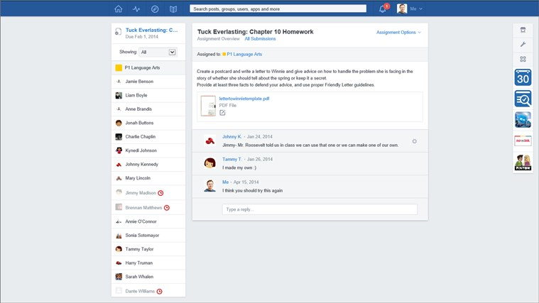Edmodo screen shot 3