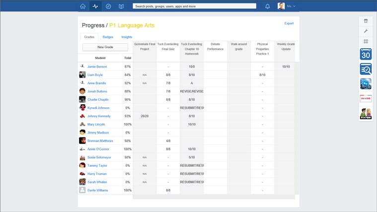 Edmodo screen shot 5