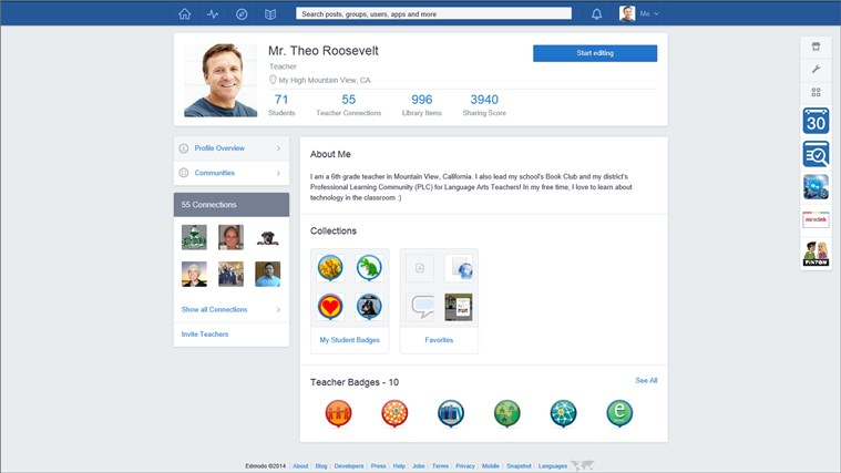 Edmodo screen shot 7