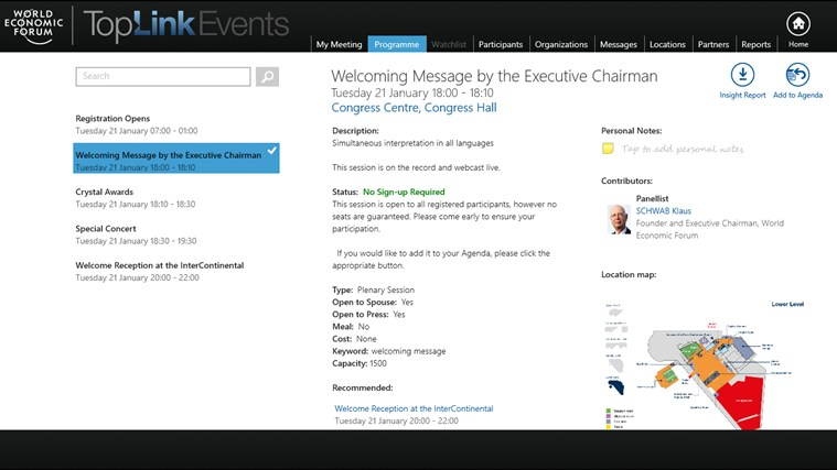 World Economic Forum Toplink Events screen shot 3