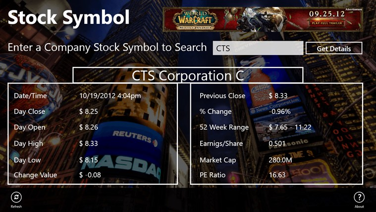 Stock Symbol For Windows 8 App Free Download On Store