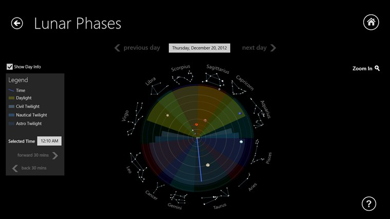 Lunar Phases screen shot 1