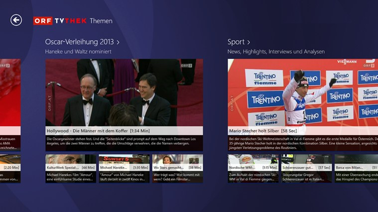 ORF-TVthek Screenshot 1