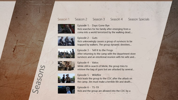 The Walking Dead Series Guide capture d'écran 3