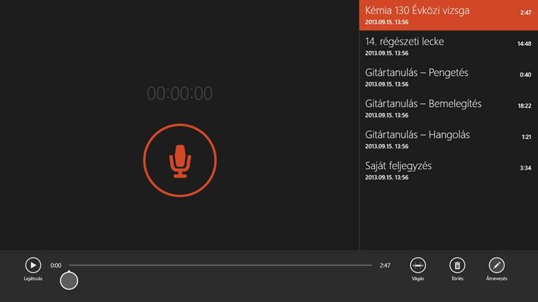 Windows Hangrögzítő – 1. képernyőkép