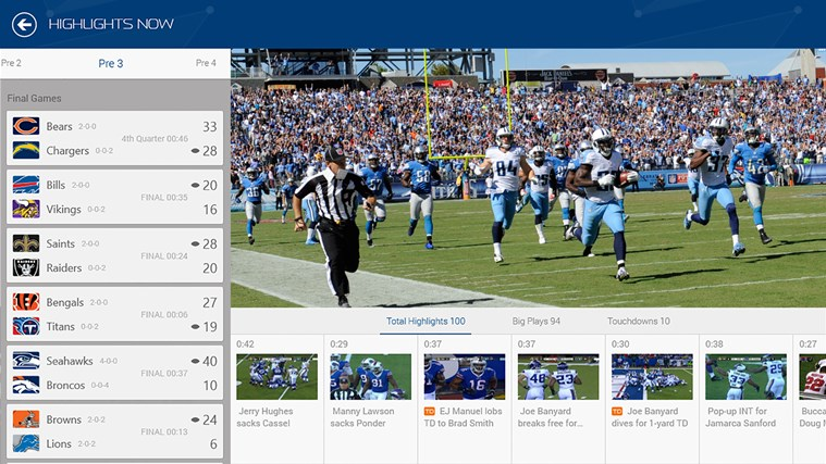 NFL Now screen shot 3