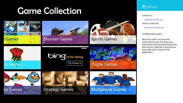 Game Collection screen shot 1