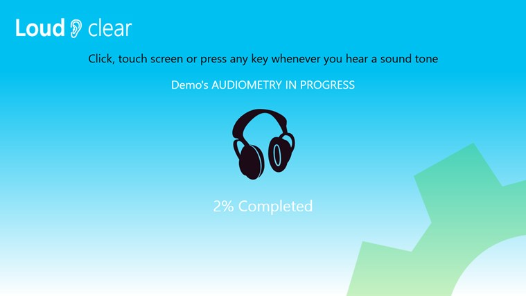 Hearing test screen shot 3
