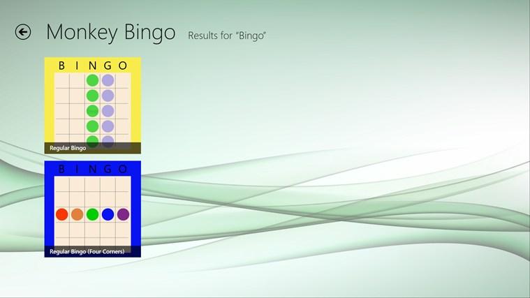 Monkey Bingo screenshot 1