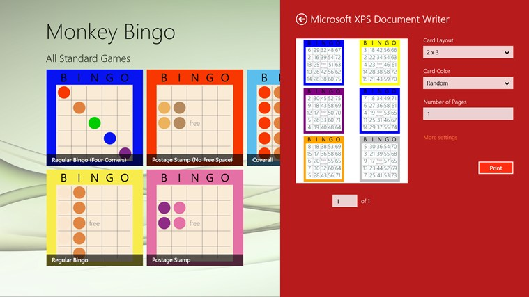 Monkey Bingo screenshot 5
