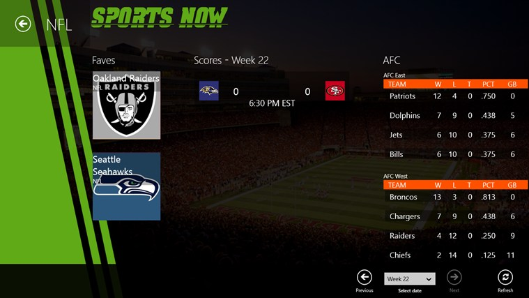 Sports Now screen shot 3