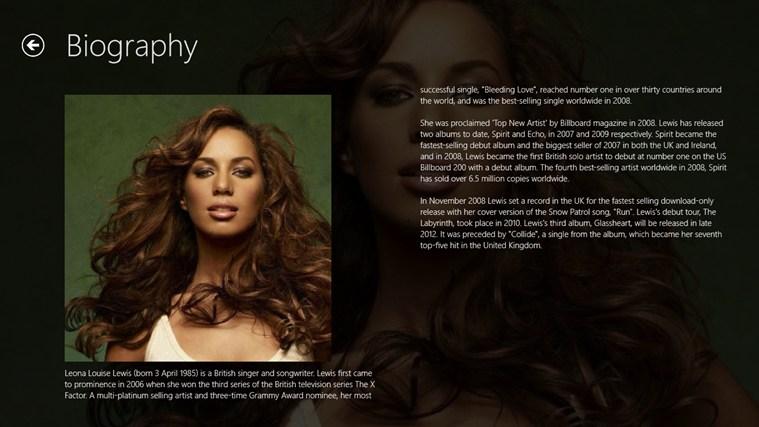 Leona Lewis Pro Screenshot 1