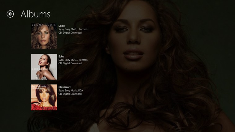 Leona Lewis Pro Screenshot 3