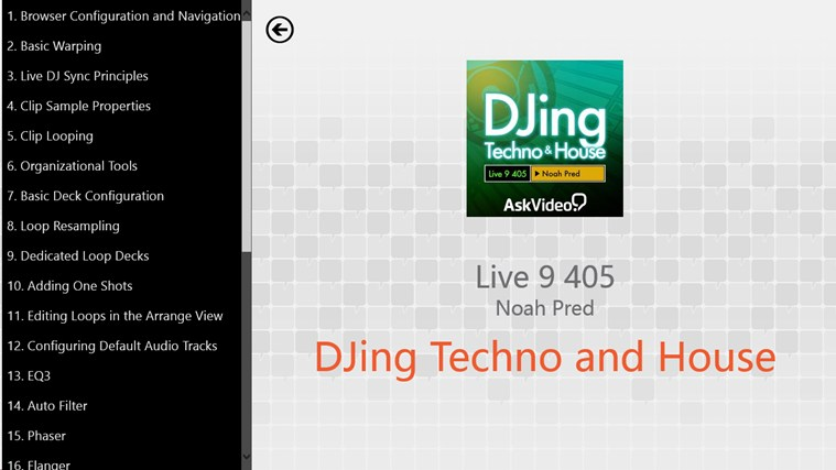 Live 9: DJing Techno and House screen shot 1
