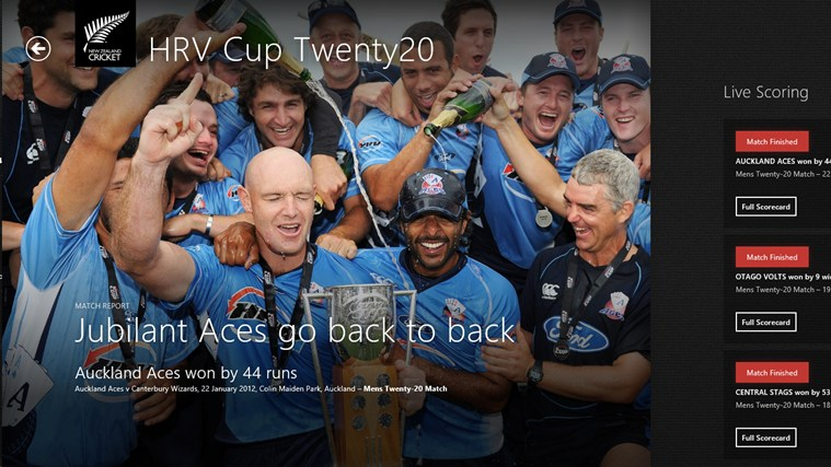 New Zealand Cricket screen shot 1