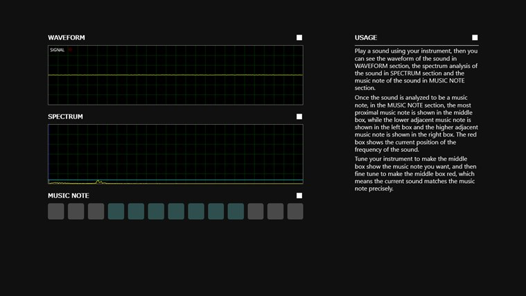 Musical Instruments Tuner screenshot 1