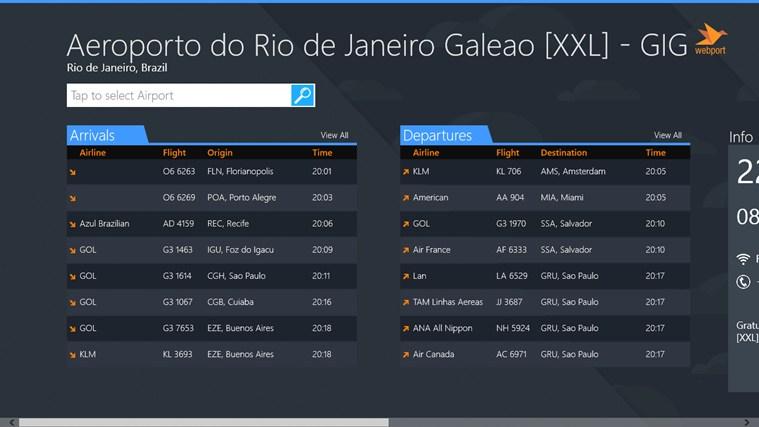 Rio de Janeiro Airport GIG + Flight Tracker captura de tela 1