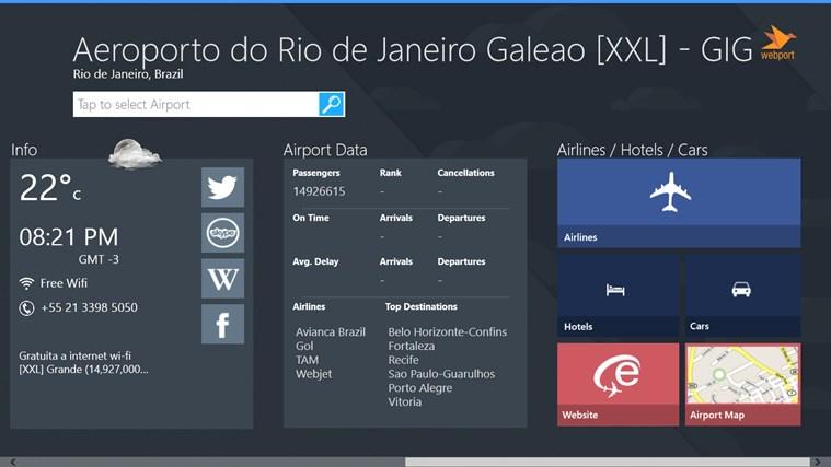 Rio de Janeiro Airport GIG + Flight Tracker captura de tela 3