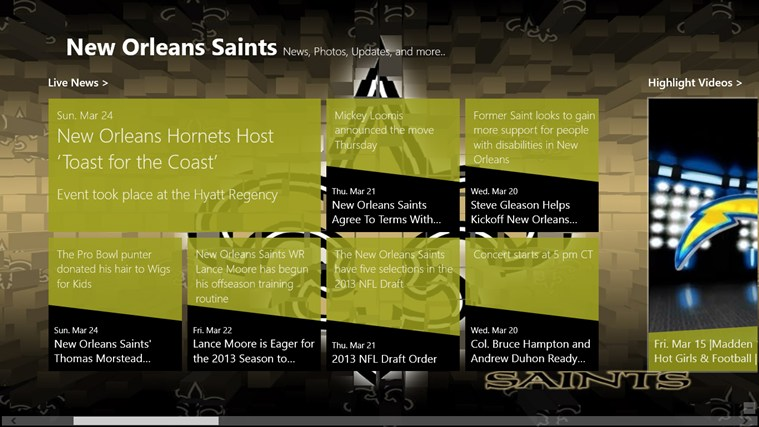New Orleans Saints Live screen shot 1