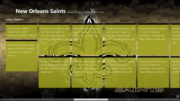 New Orleans Saints Live screen shot 3