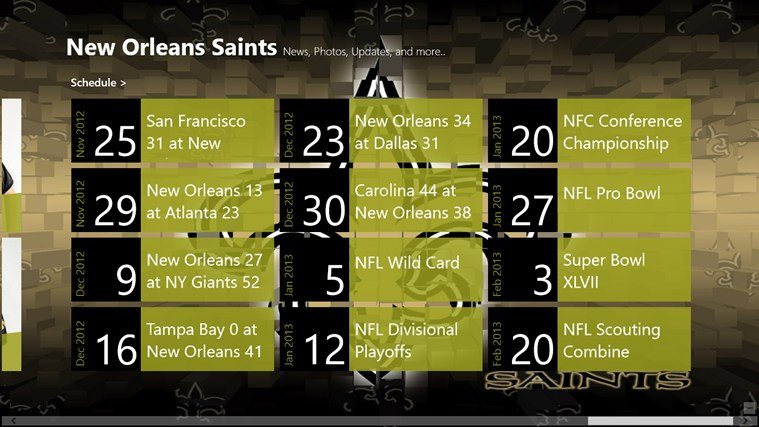 New Orleans Saints Live screen shot 5